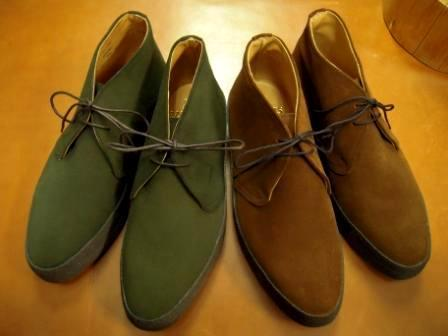 Snuff Loden Green Suede Playboys