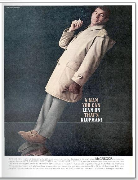 McGregor Klopman Fabric Clarks Desert Boots Vintage 1960s Advertisement