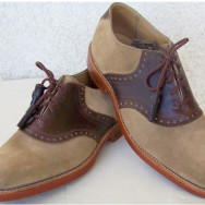 J&M Vintage Saddle Shoes Tan / Dirty Buck